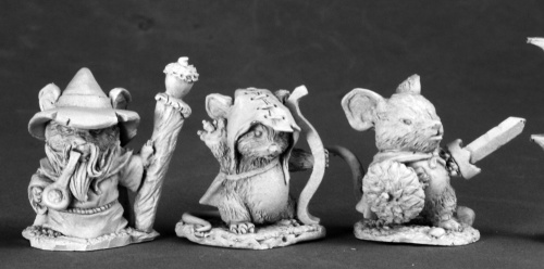 3529 Mousling Mage, Archer & Warrior