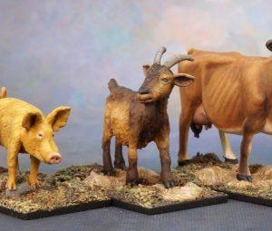 3719 Animal Companions - Goat, Pig, Cow