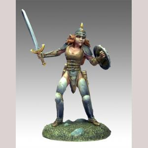 DSM1155 Female Fighter with Sword and Shield