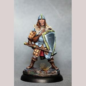 DSM7321 Male Warrior with Battleaxe and Shield