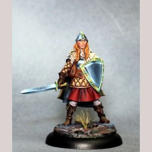 DSM7322 Female Warrior with Sword and Shield