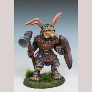 DSM8064 Rabbit Cleric with Warhammer and Shield
