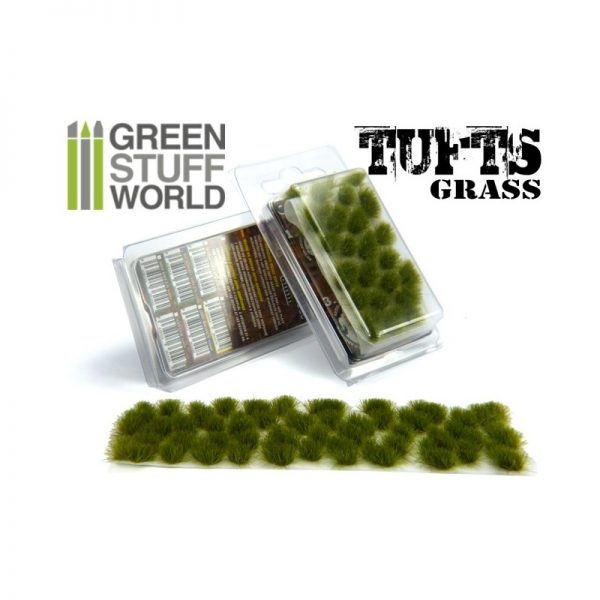 6mm Dry Green Grass Tufts