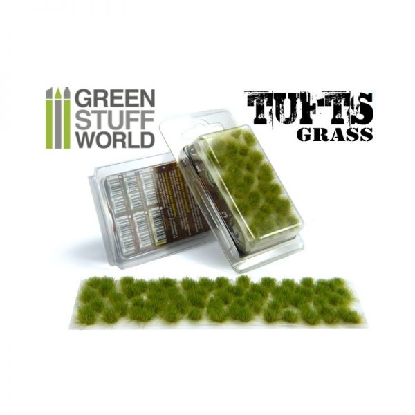 6mm Realistic Green Grass Tufts