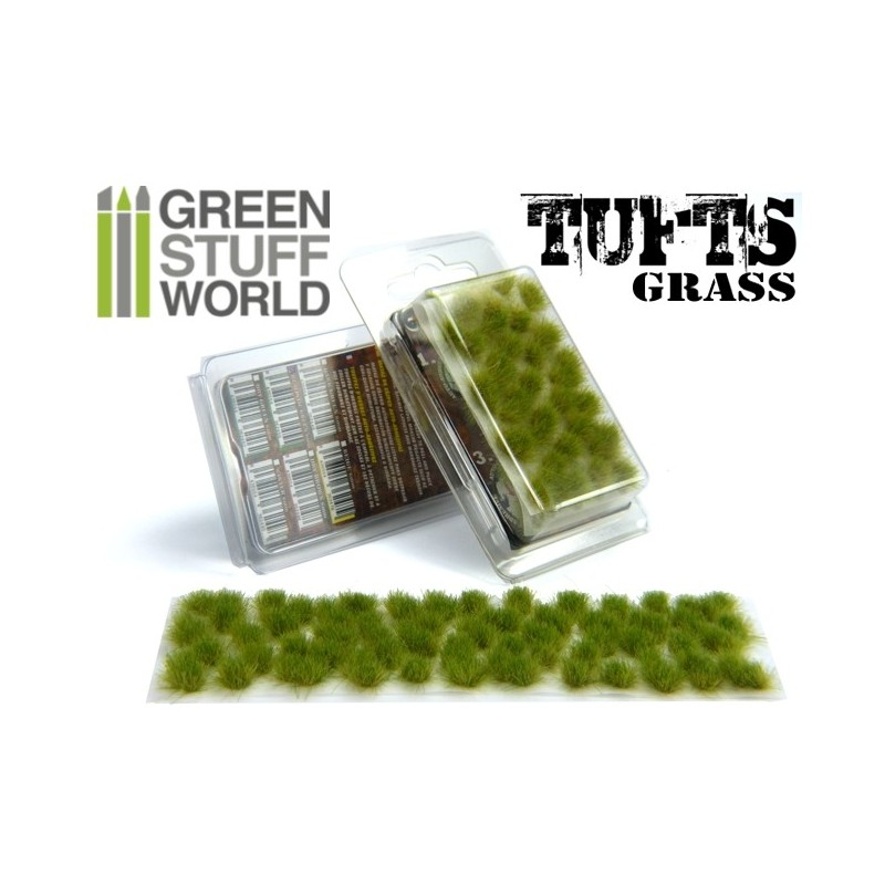Grass TUFTS - 6mm self-adhesive - REALISTIC GREEN