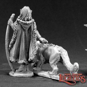 3401 Aeris, Female Elf Ranger and Panther