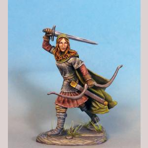 DSM7351 Female Ranger with Bow and Sword