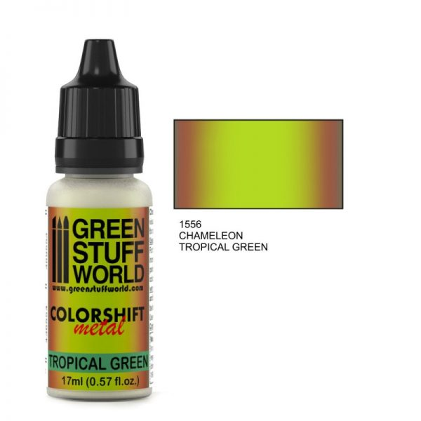 Tropical Green Colorshift Paint