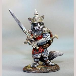 DSM8139 Ragdoll Cat Warrior with Two Handed Sword