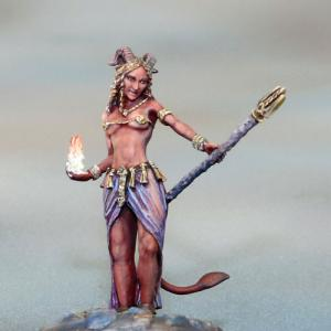 DSM7367 Female Demonkin Mage with Staff
