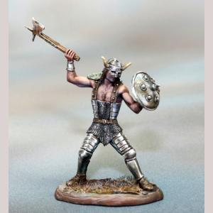 DSM7360 Male Warrior with Axe and Shield