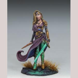 DSM7448 Female Warrior Mage with Sword and Wand