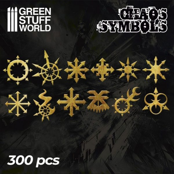 Etched Brass - Chaos Runes and Symbols