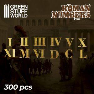 Etched Brass - Roman Numerals