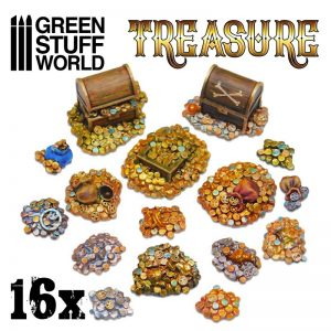 16 x Resin Treasure Pieces