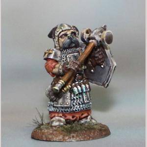 DSM8151 Pug Cleric with Mace