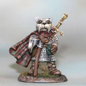 DSM8150 Westie Warrior with Axe