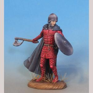 DSM7350 Male Warrior with Axe and Shield