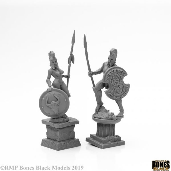 44126 Amazon and Spartan Living Statues