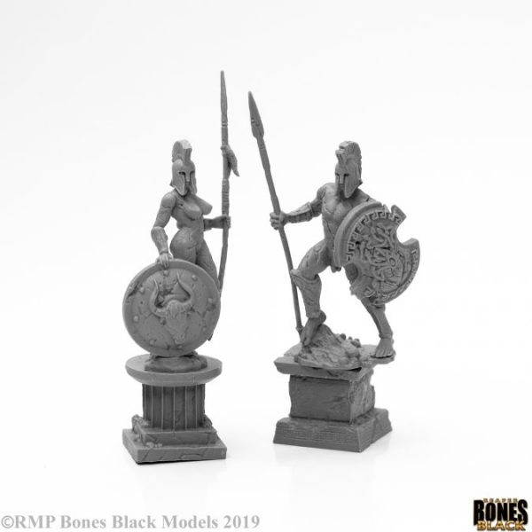44127 : Amazon and Spartan Living Statues