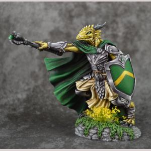 DSM7112 Dragonkin Cleric with Mace and Shield