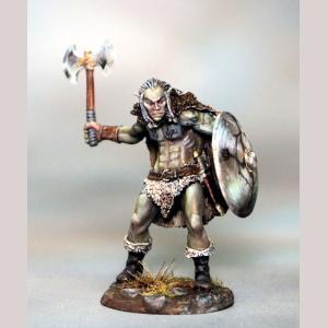 DSM7387 Male Half Orc Warrior with Battleaxe