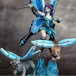 DSM6508 Ali the Fairy with Winged Cats Diorama