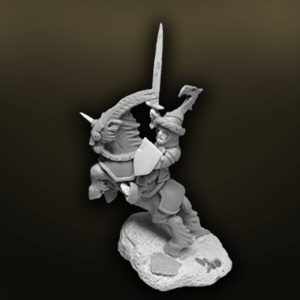 WFHA17 Halfling Army General on Giant Goat