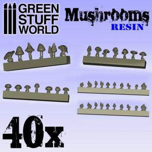 40 x Resin Mushrooms & Toadstools
