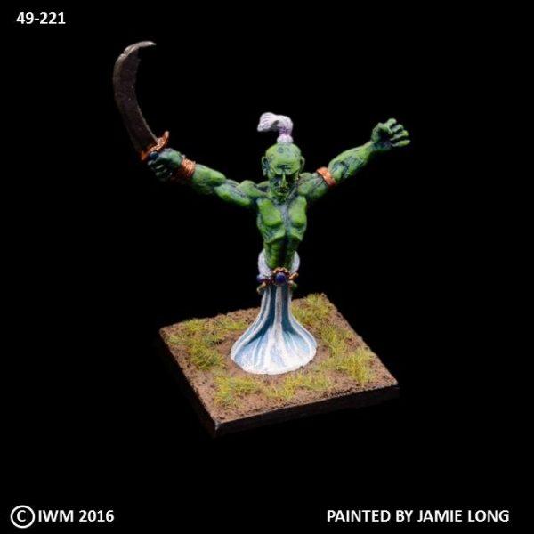 49-0221 Djinn with Sword Raised