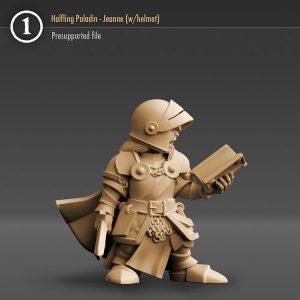 "3DHA_16 Halfling Paladin ""Jeanne Lard"", (with helmet version)"