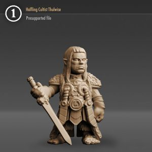 """3DHA_21 Halfling Cultist """"Thulwise"""""""